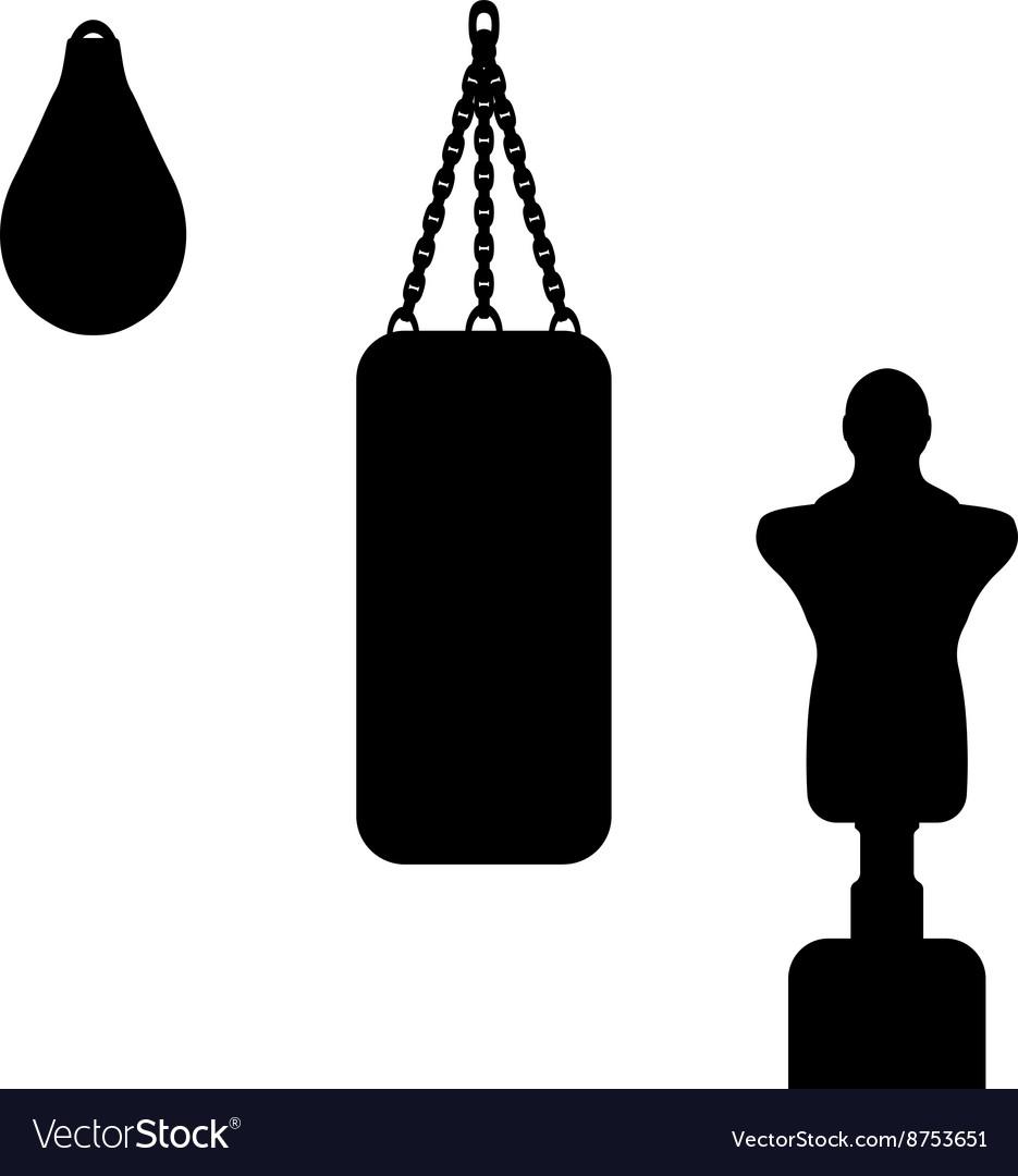 A punching bag vector image