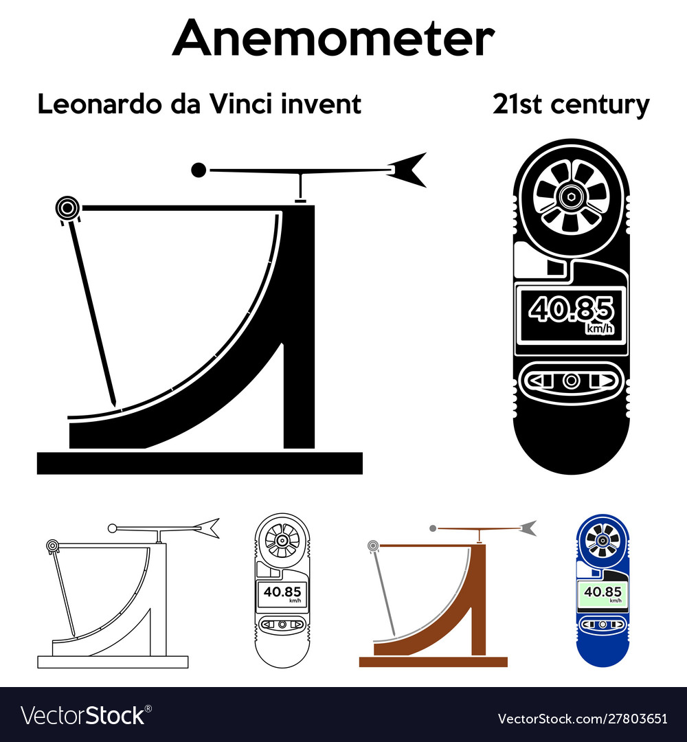 Anemometer leonardo da vinci invent outline only