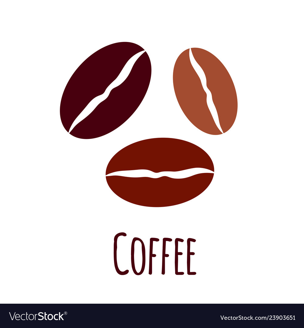 coffee beans icon simple flat royalty free vector image vectorstock