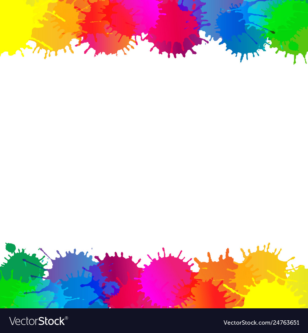 Colorful stain borders