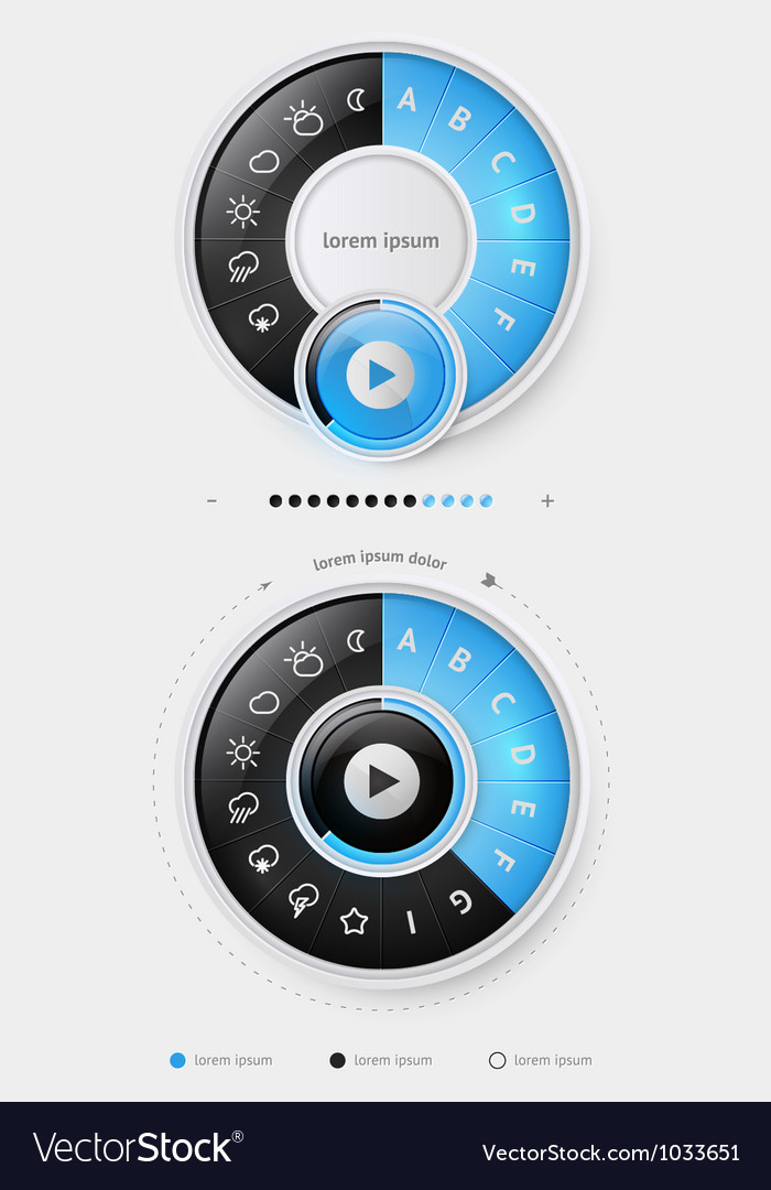Elements infographics with buttons and menus