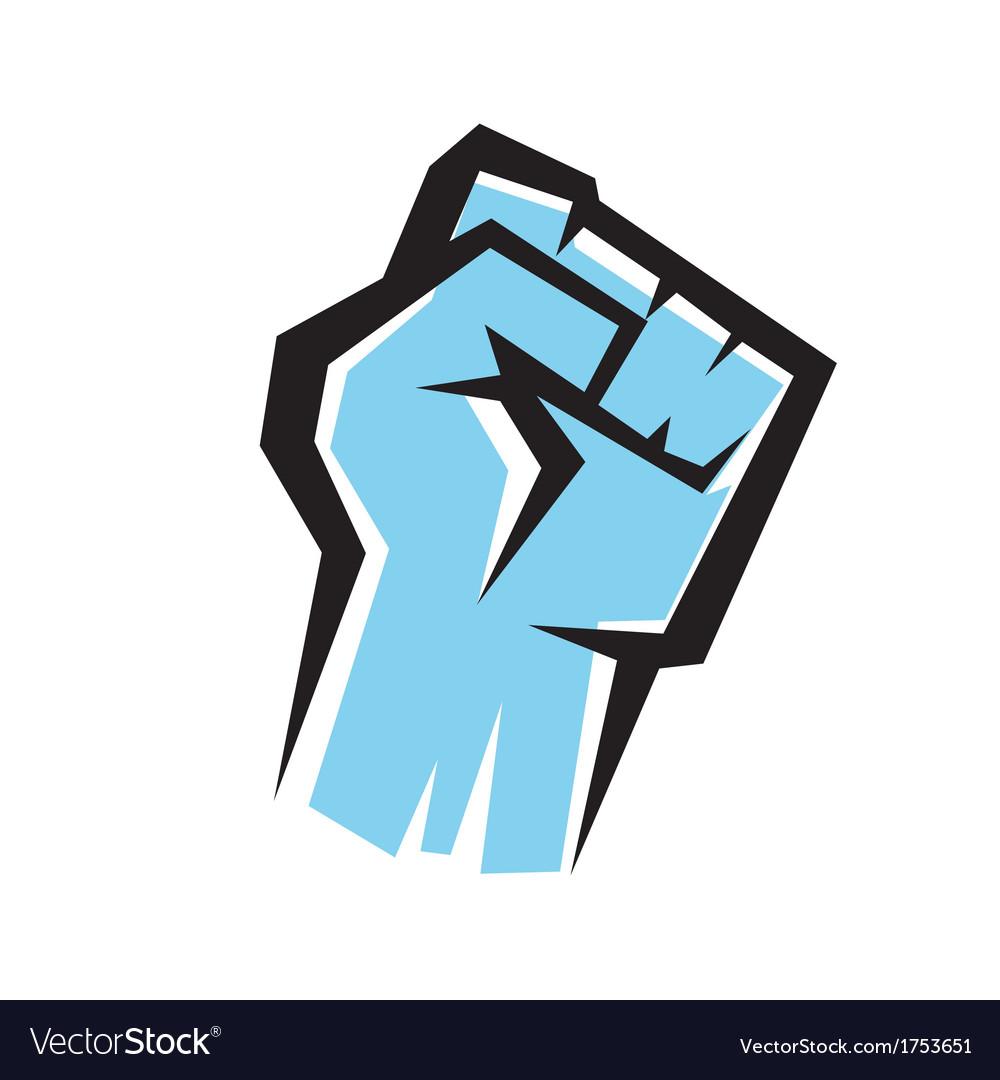 Fist stylized icon revolution concept