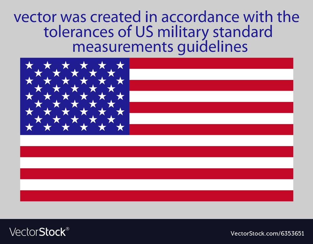 Flag of USA standard vector image