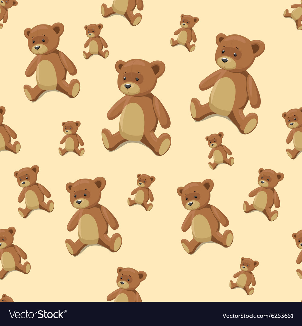 seamless background teddy bear toy royalty free vector image