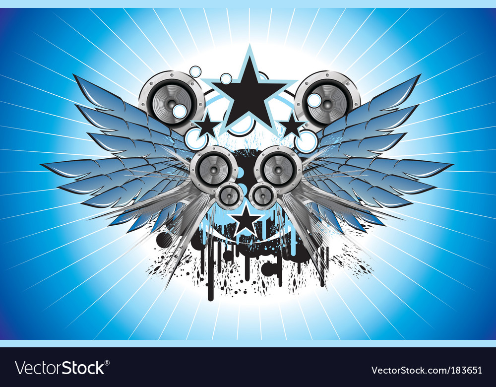 Sound and music frame vector image