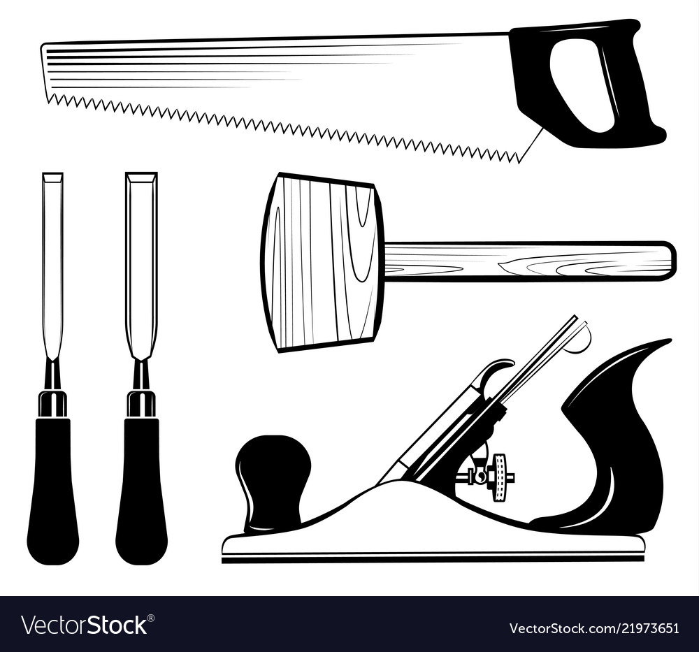 Woodworking And Carpentry Tools Set Mallet