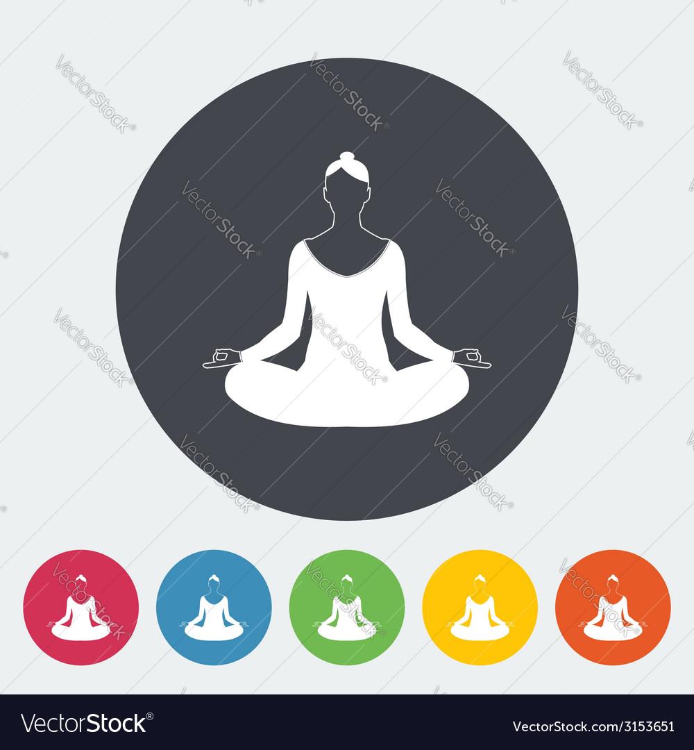 Yoga flat icon