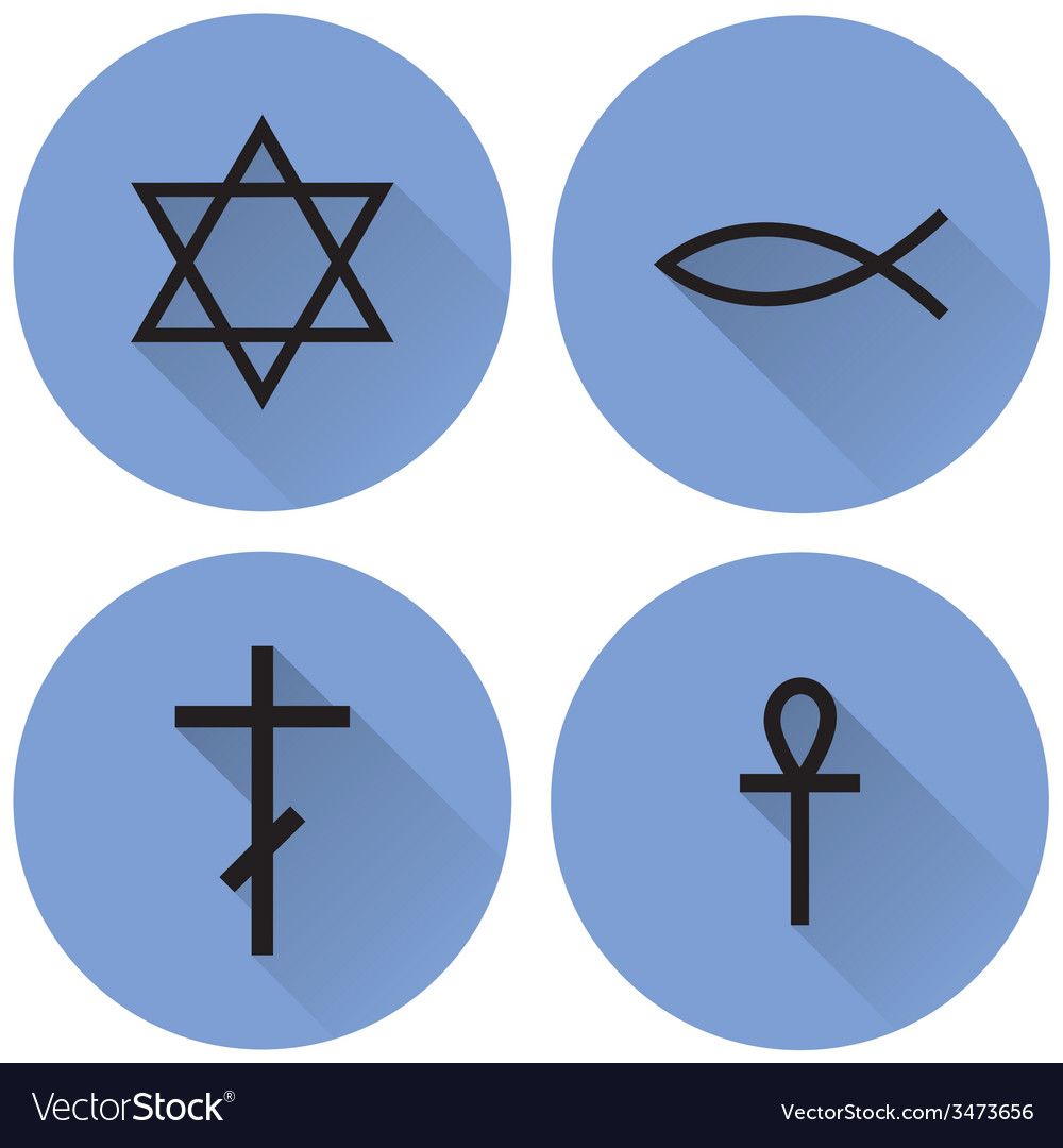 A Small Set Of Religious Symbols Royalty Free Vector Image