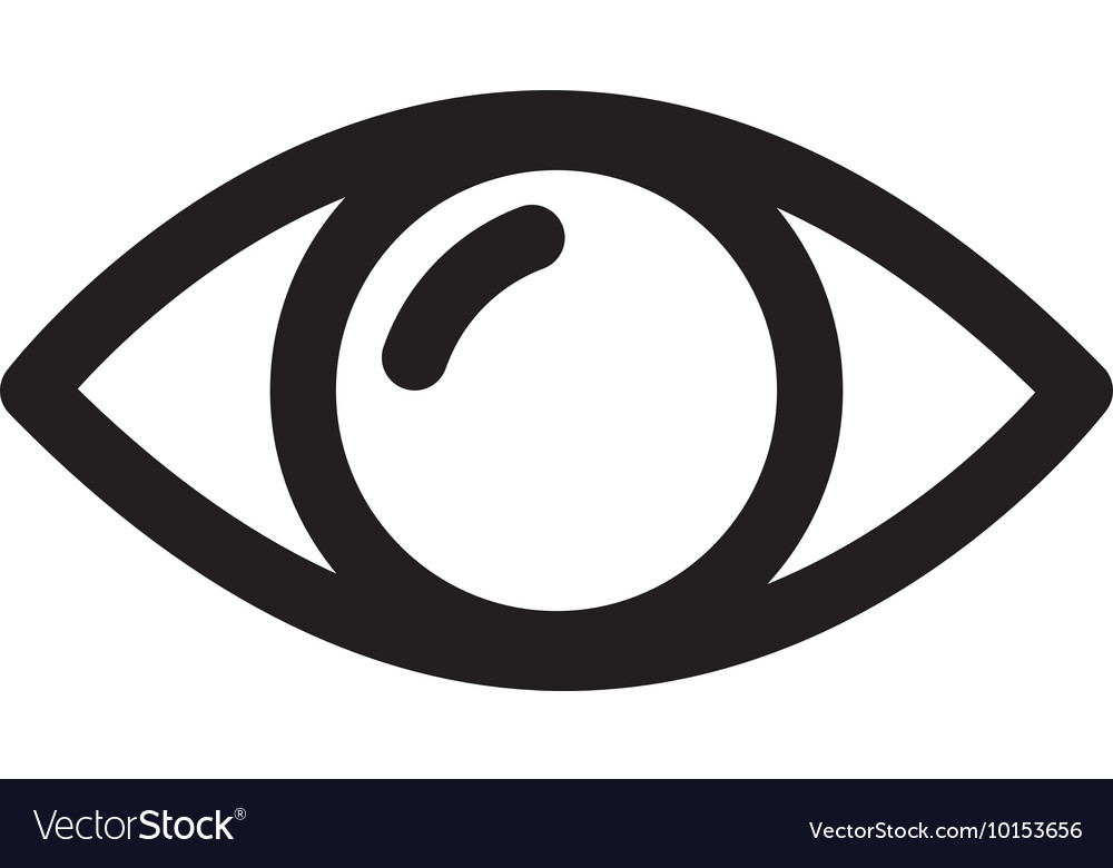 Eye look vision optical icon graphic