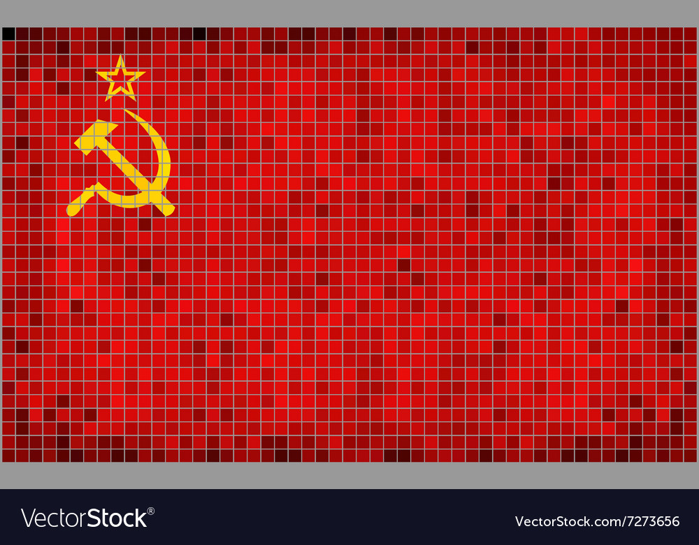 Flag of the Soviet Union vector image
