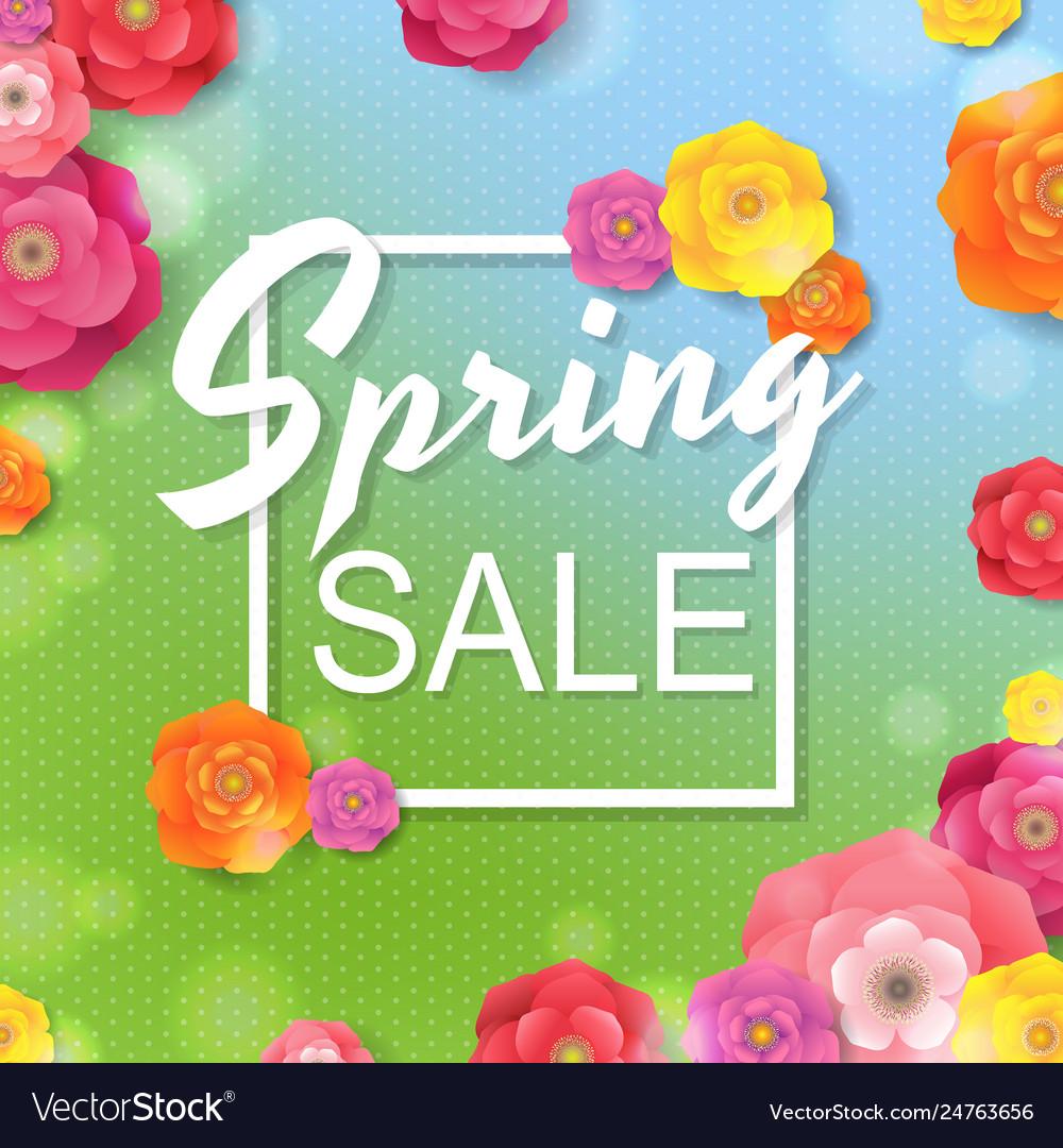 Flower sale poster