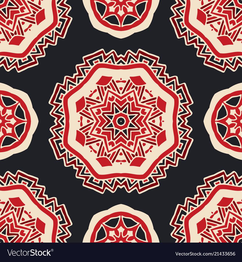 Luxury star damask seamless tiled motif