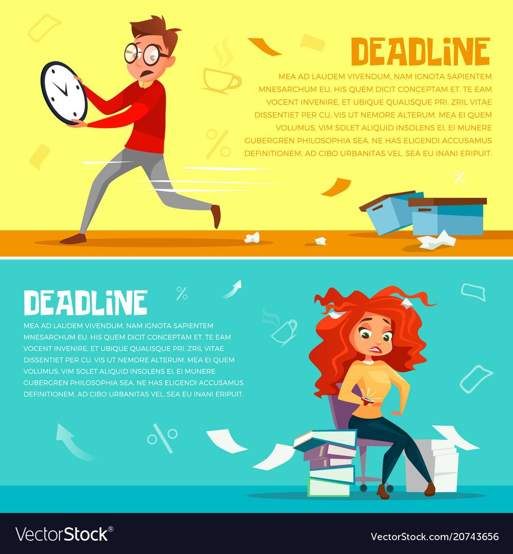 Office managers deadline cartoon