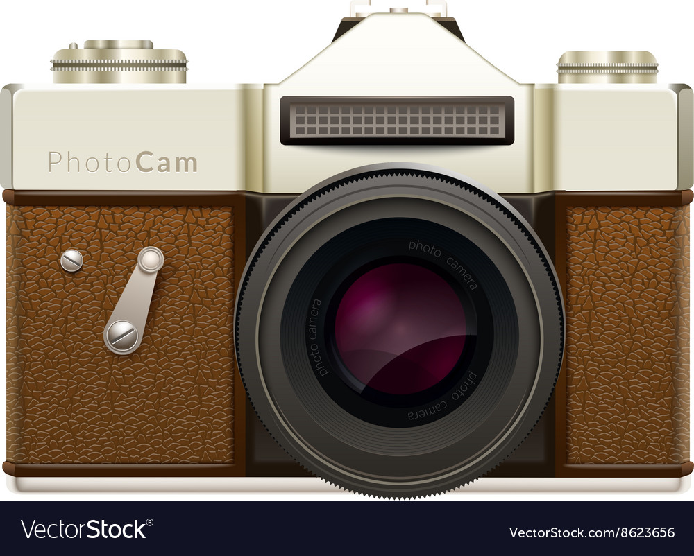 Camera Vintage Vector Free : Old fashioned vintage camera royalty free vector image
