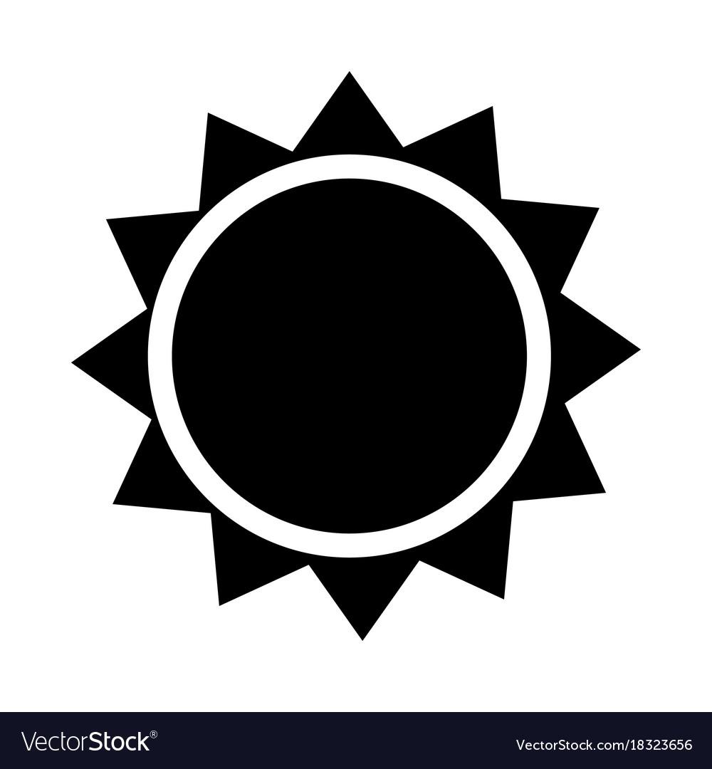 Sun icon - iconic design