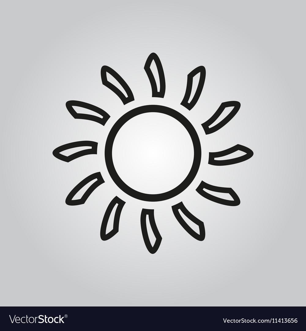 The sun icon Sunrise and sunshine weather symbol
