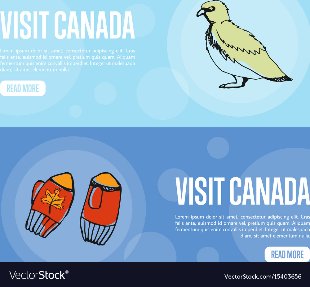 Visit canada travel company landing page template