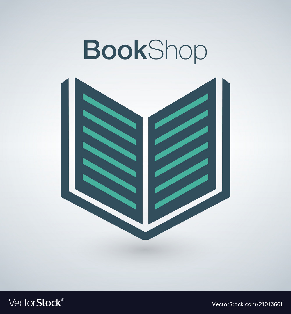 Book shop logo isolated on modern background can