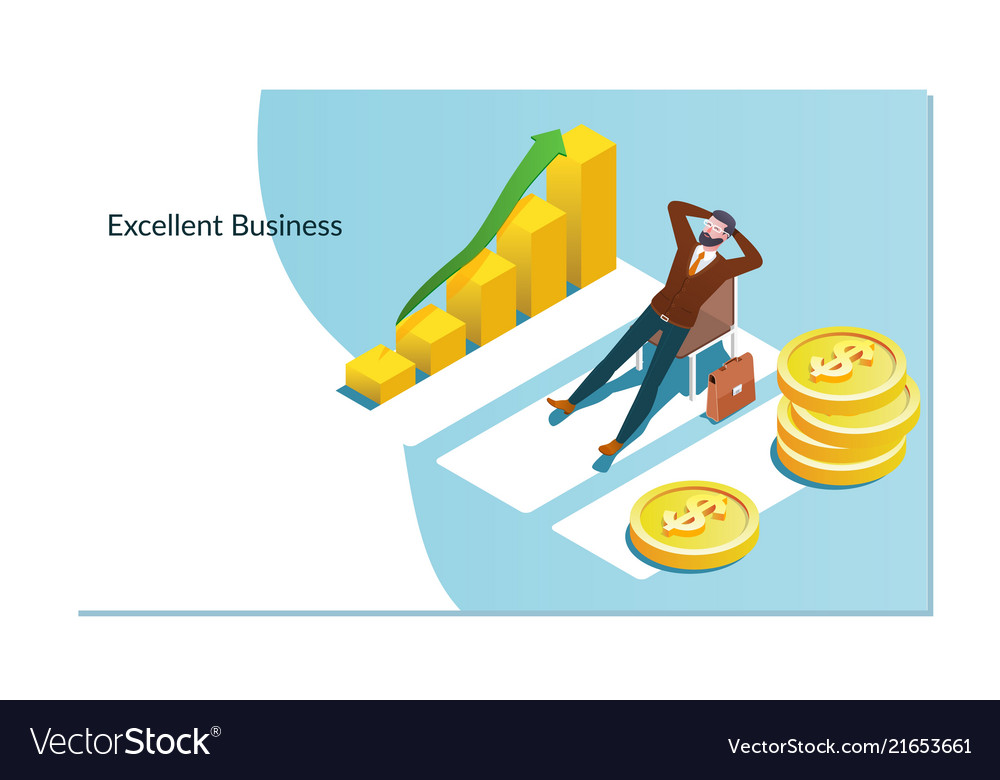 Concept of business growth with an upward arrow