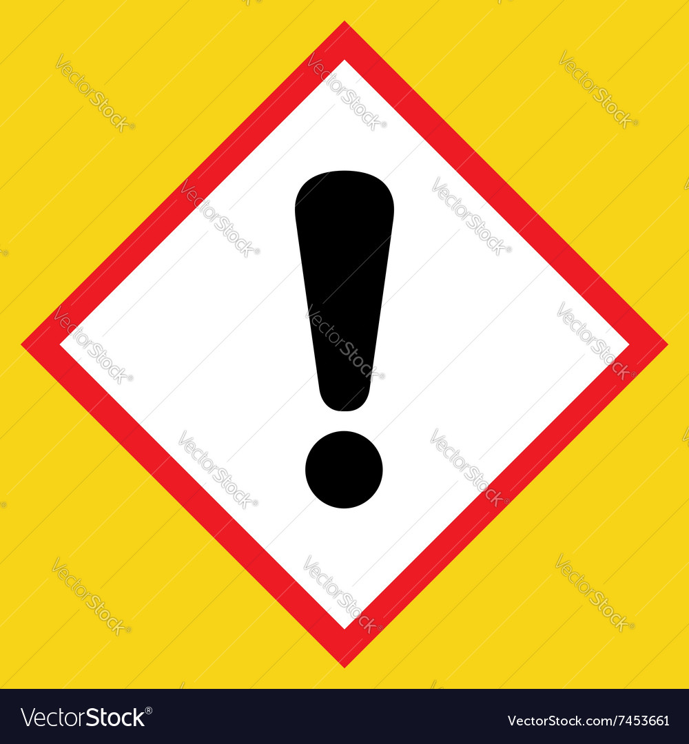 Exclamation point black sign vector image