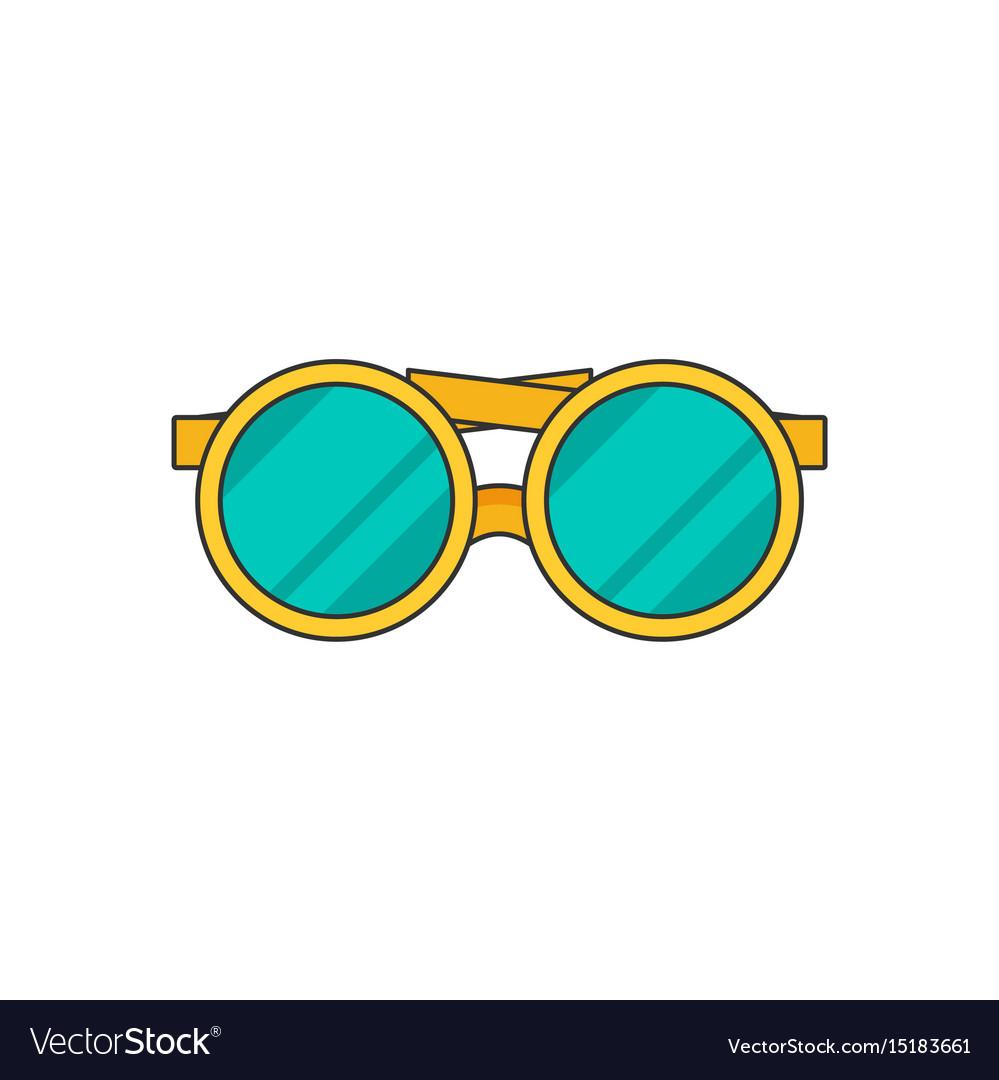 Glasses flat vector image