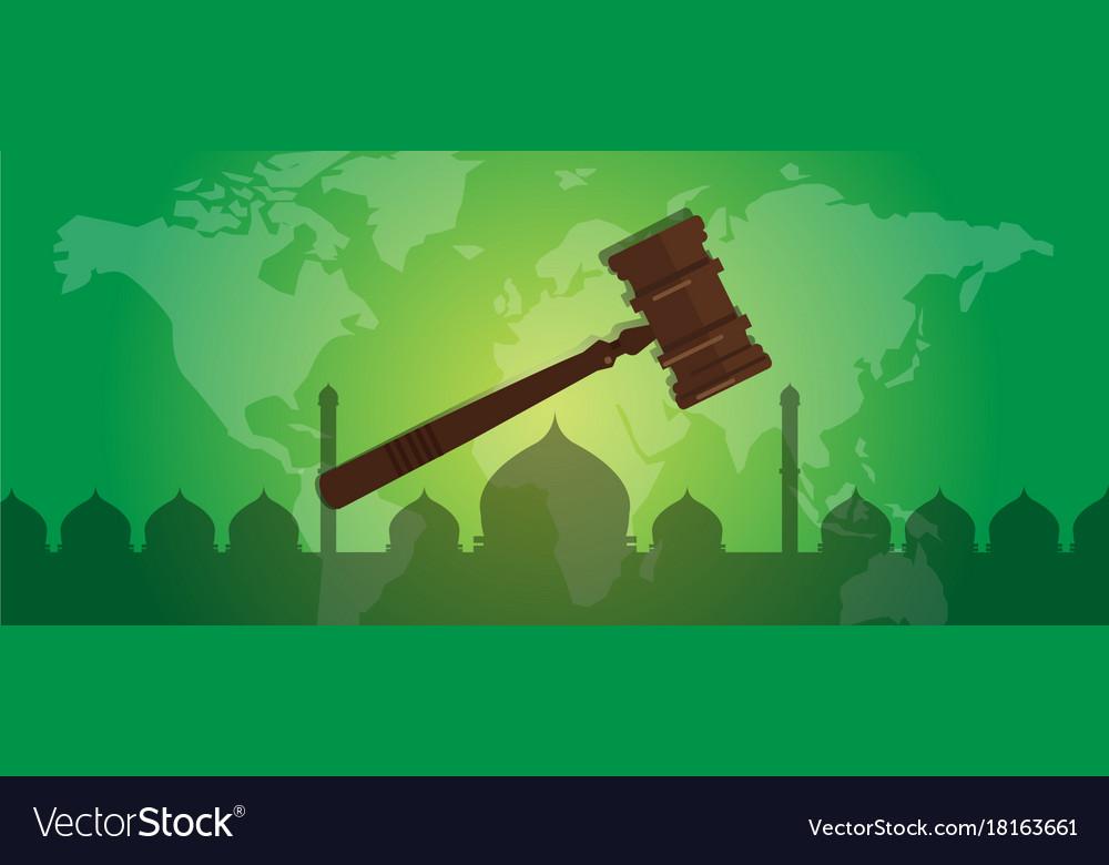 Sharia islam law justice verdict case legal gavel