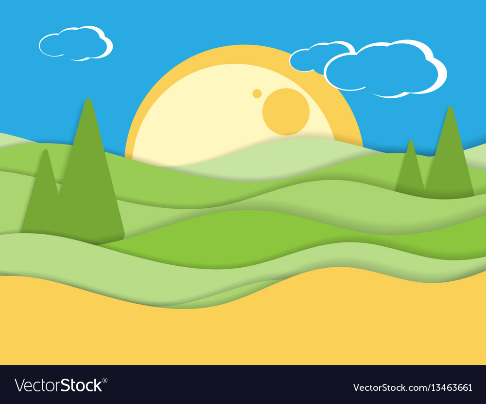Summer flat scene vector image