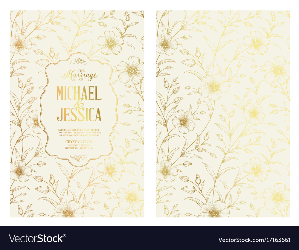 White invitation card design