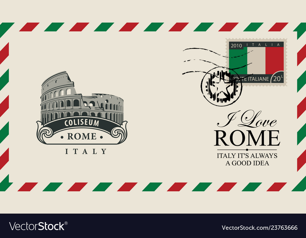 Envelope or postcard with roman coliseum