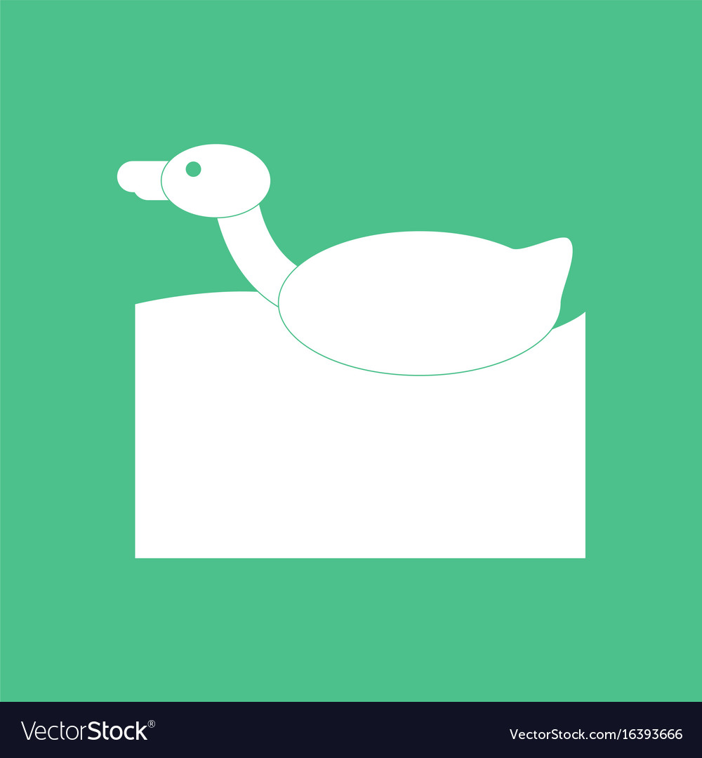 Icon on background duck silhouette