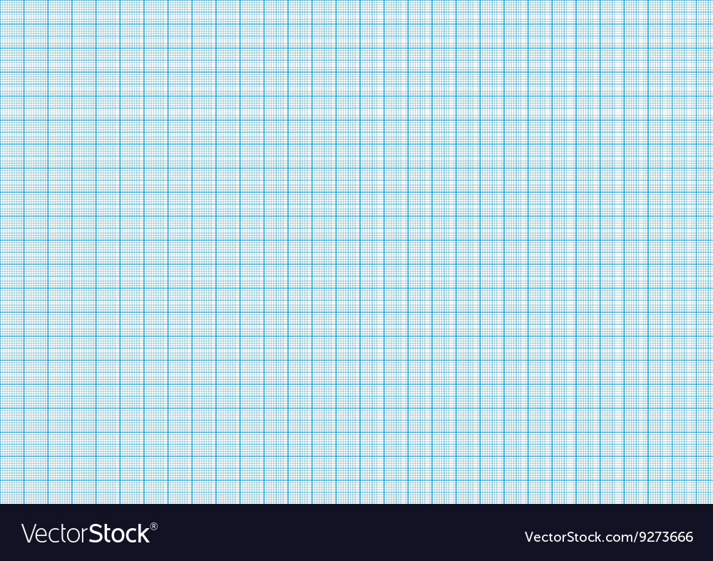 One millimeter graph paper cyan color on a4 size vector image