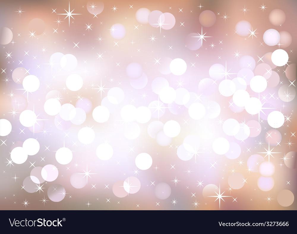 Pastel festive lights background vector image