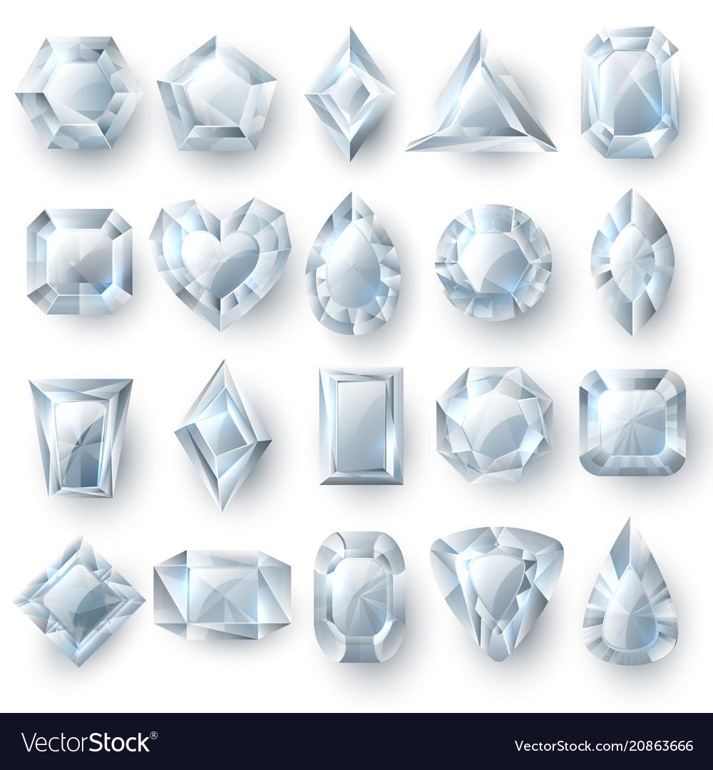 Silver diamonds gems cutting stones jewellery