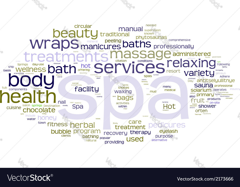 Spa word cloud