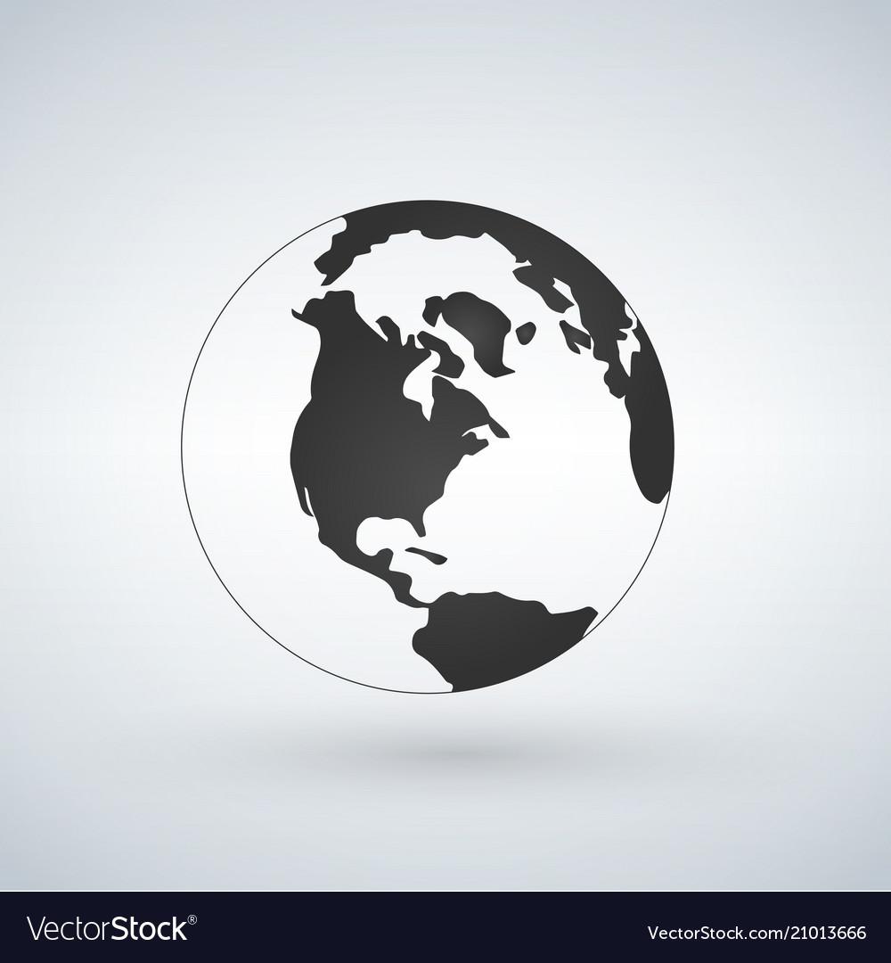 Us world globe icon isolated on white background