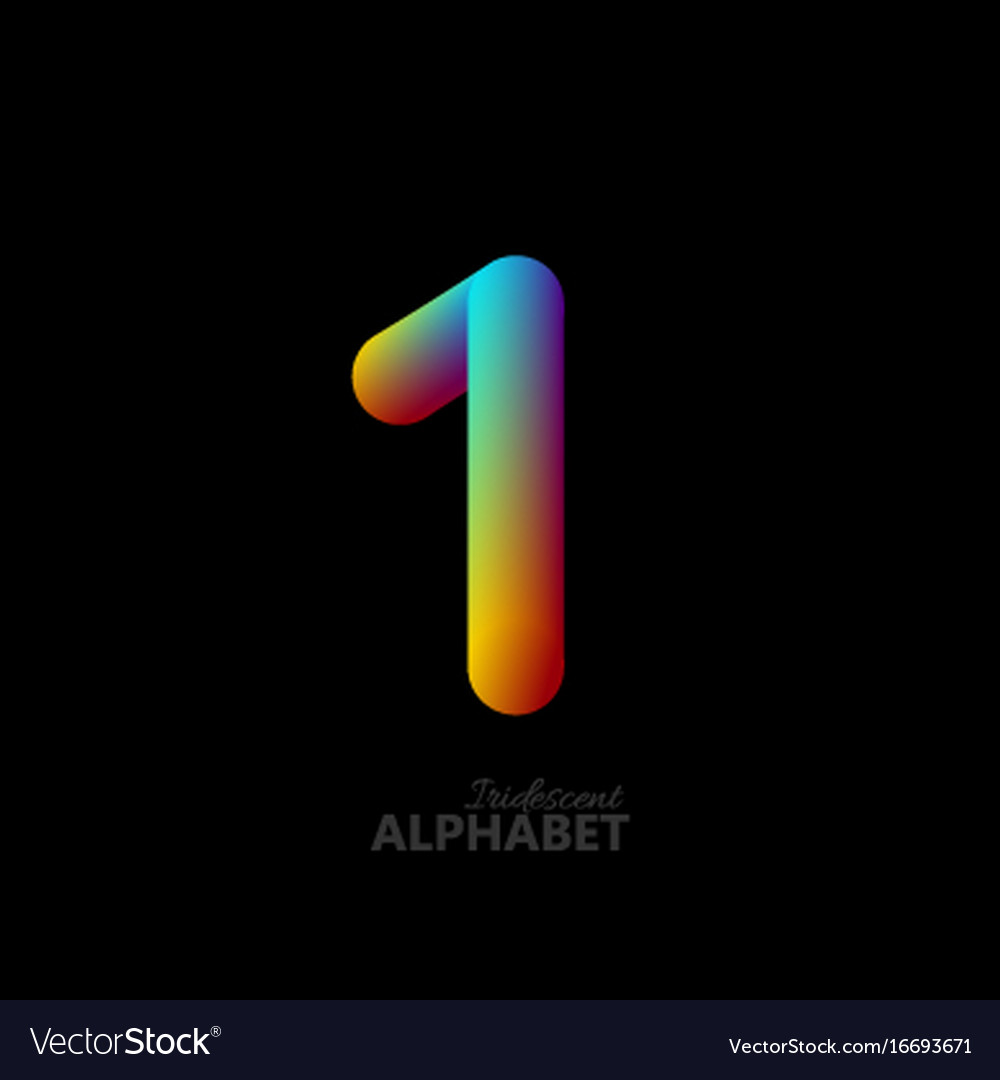 3d iridescent gradient number 1