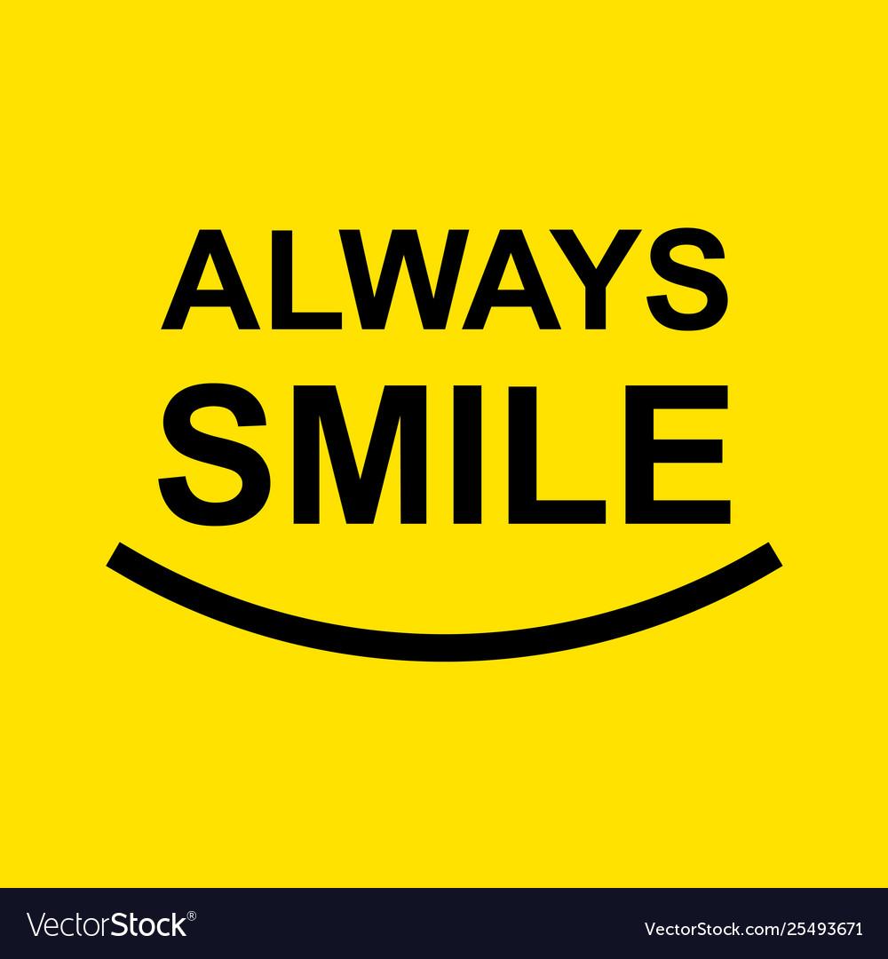 Always smile template design