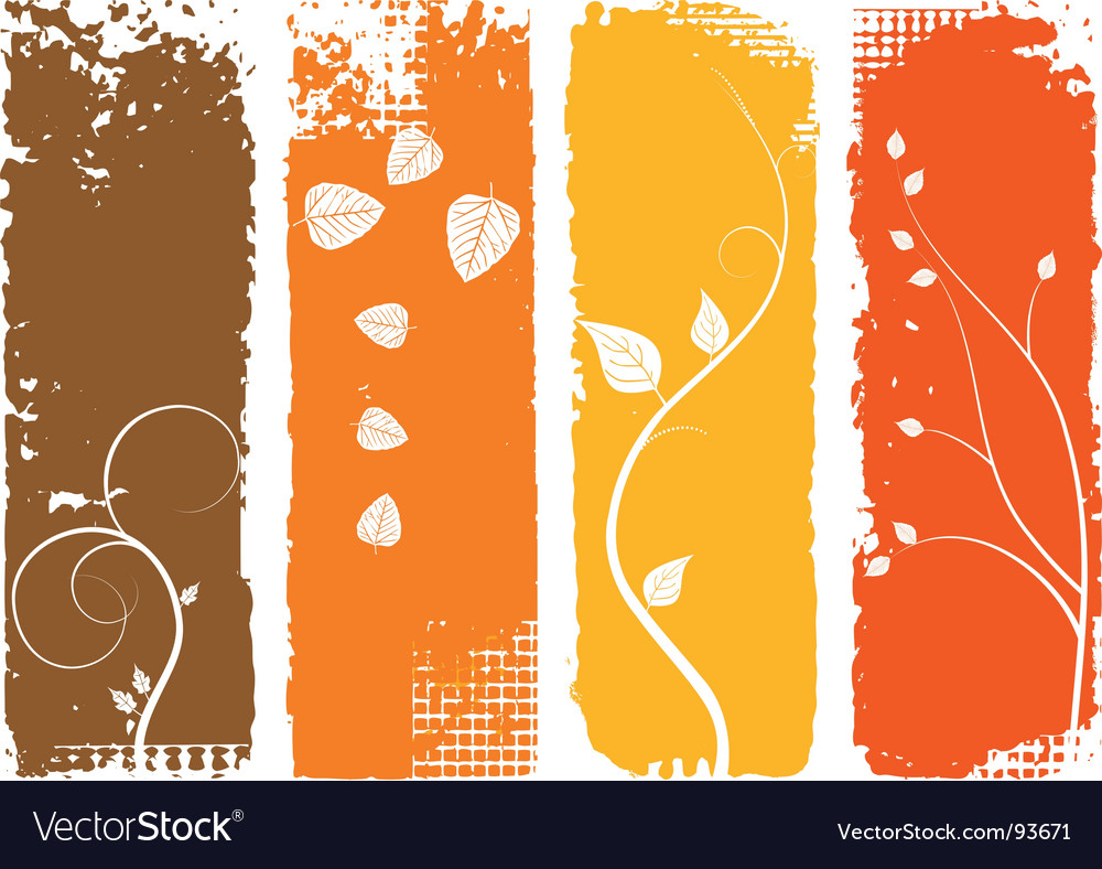 autumn background vertical banners set royalty free vector
