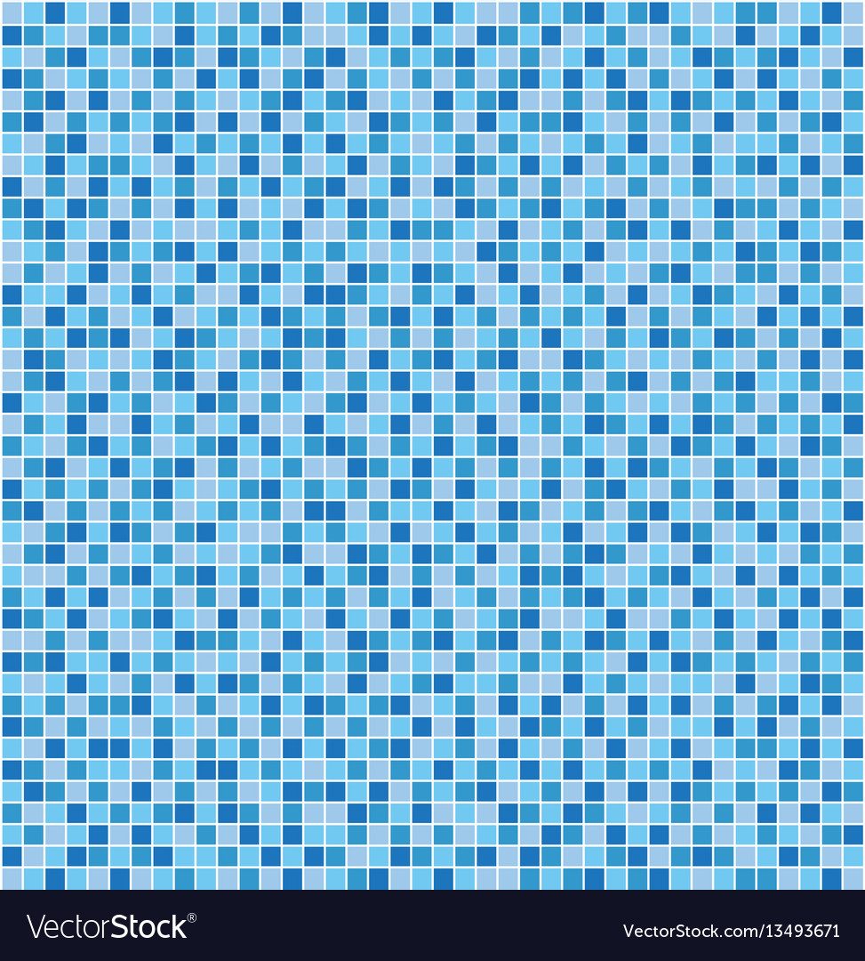 Blue mosaic tile seamless pattern Royalty Free Vector Image