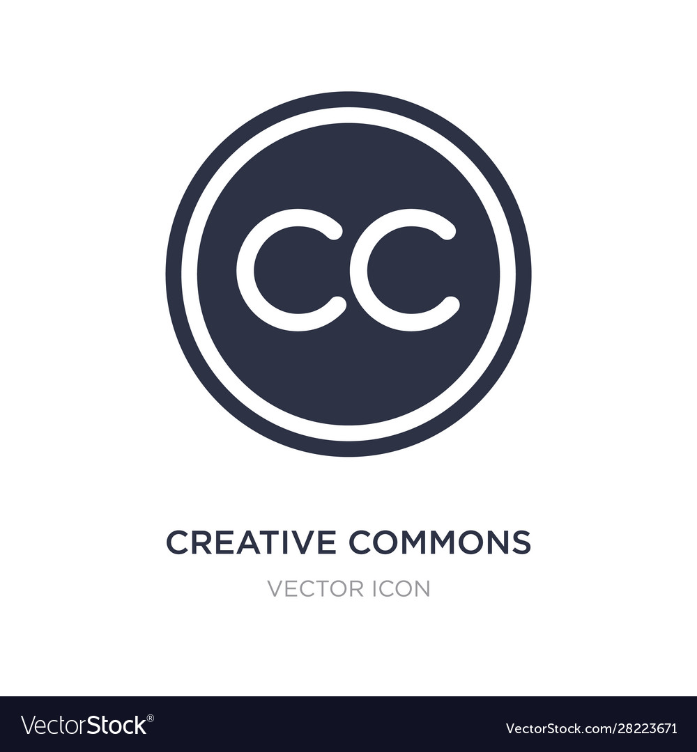 Creative Commons Icon On White Background Simple Vector Image