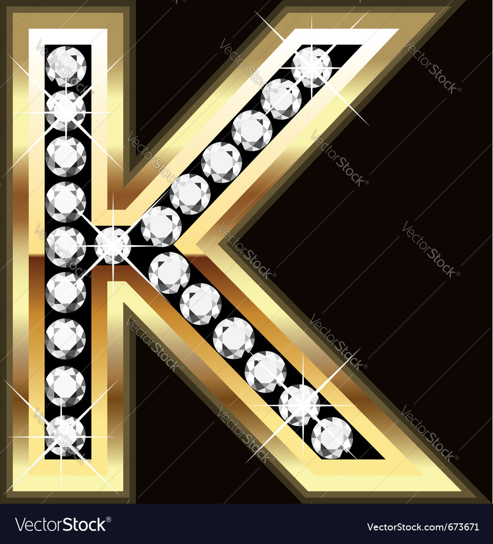 K bling vector image