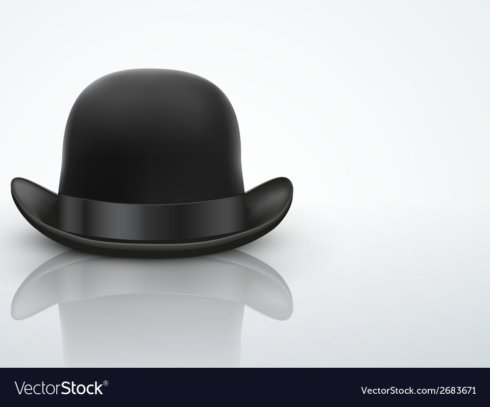 Light Background Black bowler hat