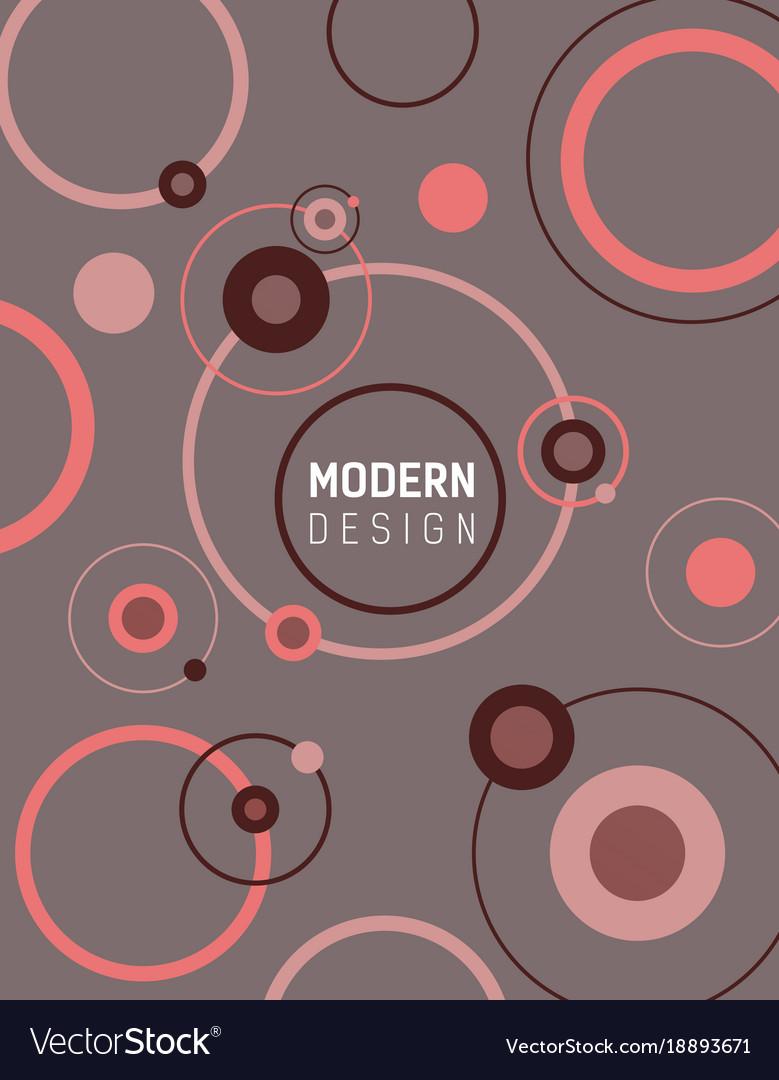 Modern design with circles