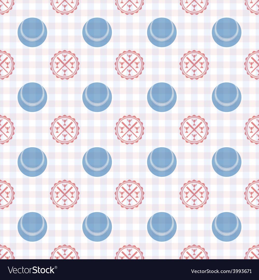 Seamless pattern baseball