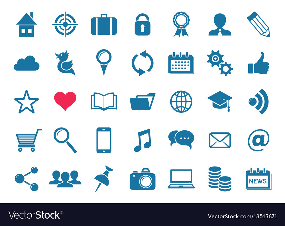 Social media and website icons