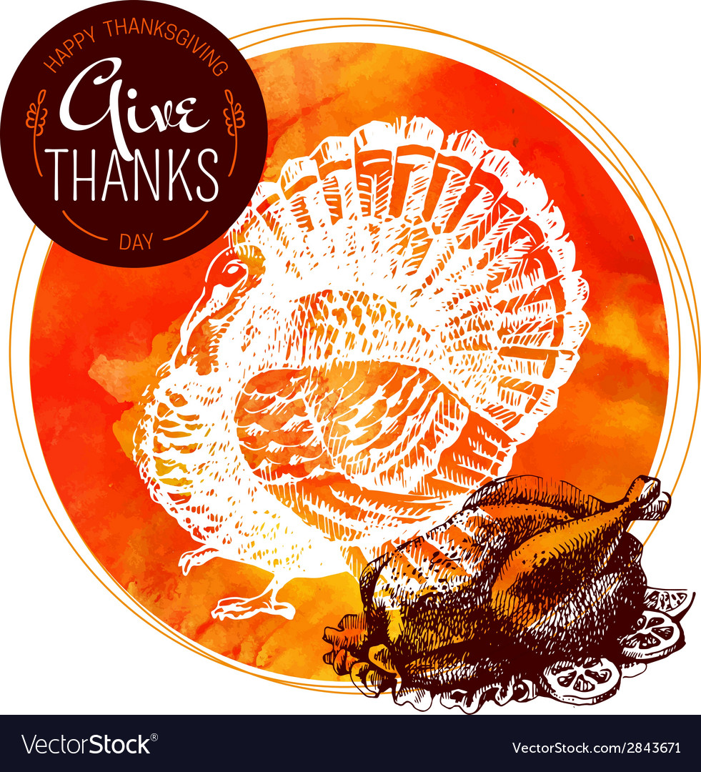 Thanksgiving Day background Typographic poster