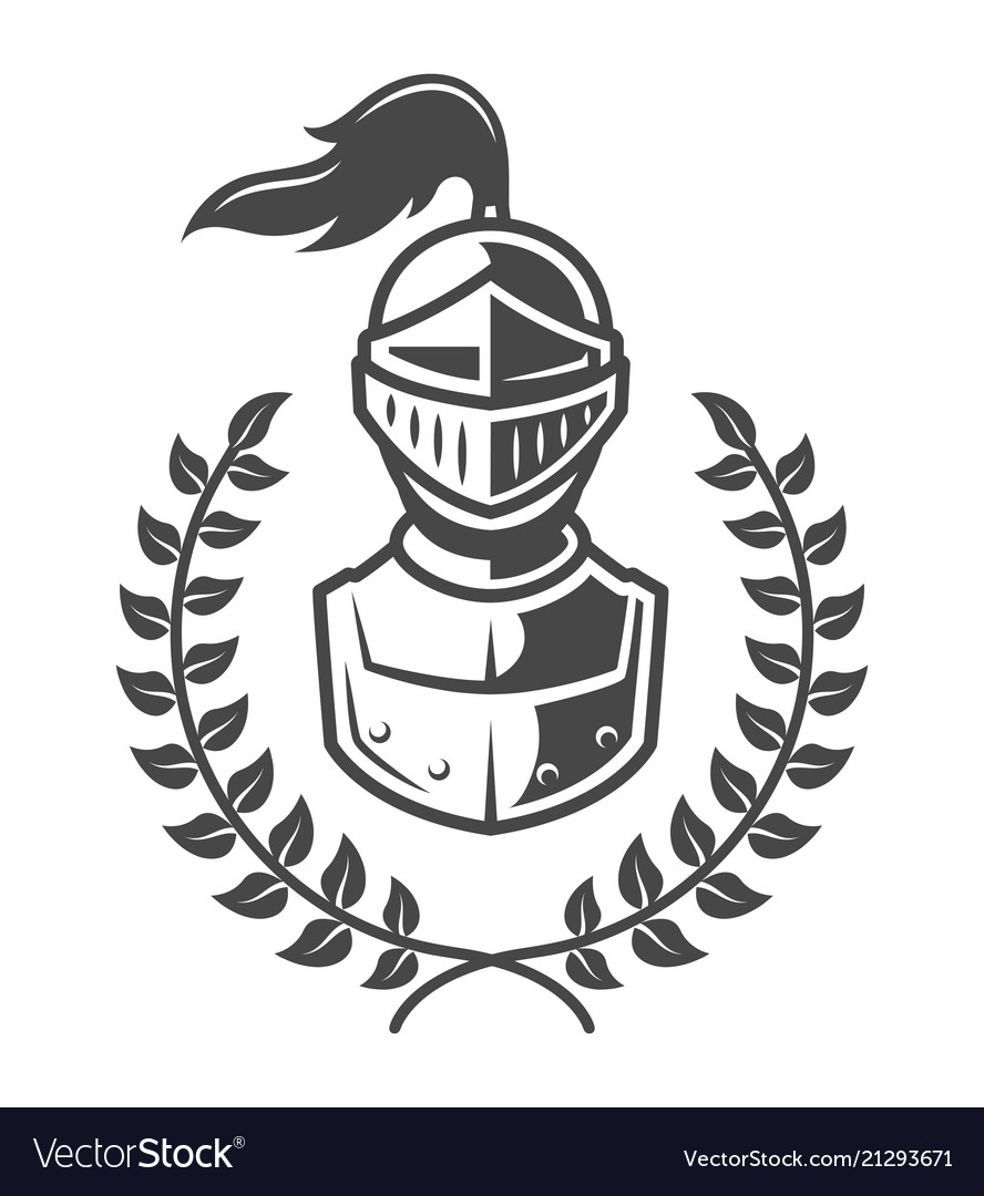Vintage Armored Knight Emblem Royalty Free Vector Image What's more, other formats of knight, brave. vectorstock