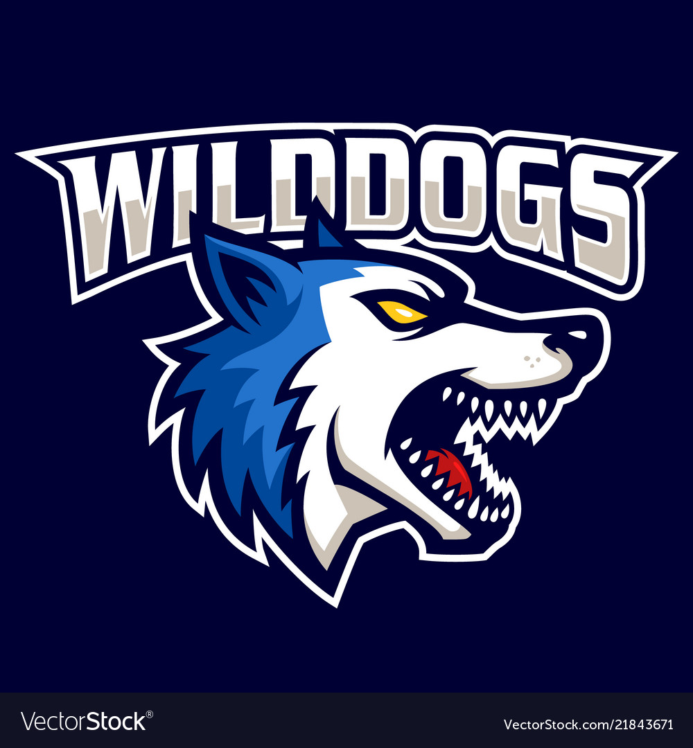 Wild dogs sign and symbol logo