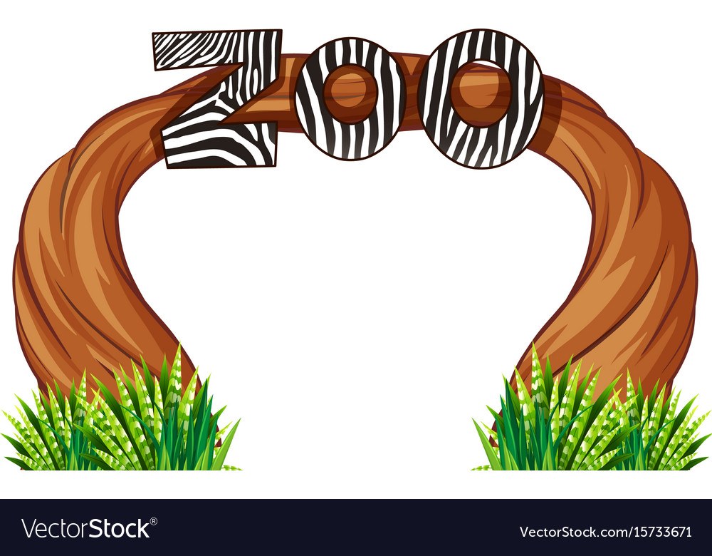 zoo entrance with wood and grass royalty free vector image rh vectorstock com grass vector intersect grass vector art