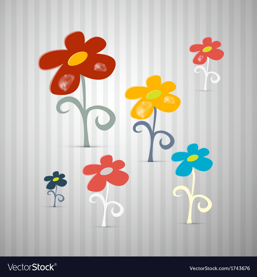 Abstract Retro Flowers